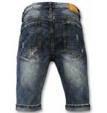 Black Ace Basic Short Pants For Men - Blue