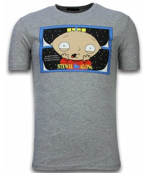 Mascherano Stewie Home Alone Printed T Shirt Men - Grey