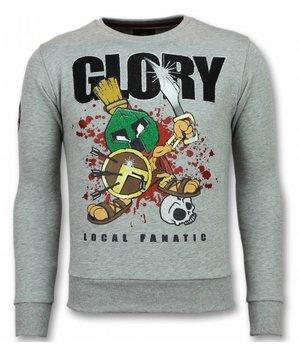 Local Fanatic Glory Marvin Spartacus Sweater Men - Grey