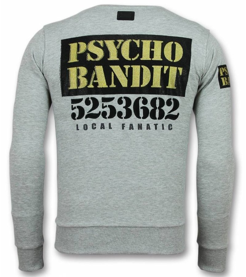 Local Fanatic Bad Dog Sweater - Cartoon Sweater Men - Grey