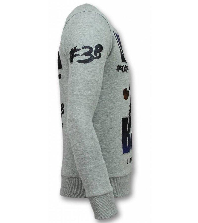 Local Fanatic 007 Duck - James Bond Sweater Men - Grey