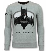 Local Fanatic Batman Sweater - Superhero Sweater Men - Grey