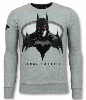 Local Fanatic Batman Rhinestone Sweatshirt Men - Grey