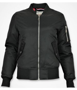 Matogla Ladies Bomber Jacket - Short Jacket Women - Black