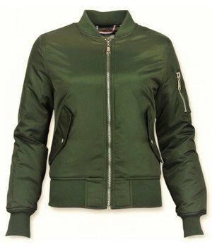 Matogla Bomber Jacket Ladies - Women Short Jacket  - Green