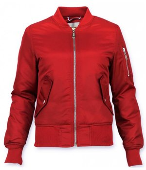 Matogla Women Short Jacket - Bomber Jacket Ladies - Red