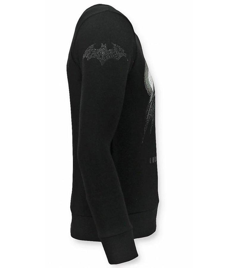 Local Fanatic Batman Men Sweater - Men's Sweaters Rhinestones - Black