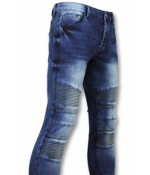 New Stone Exclusive Men's Jeans - Slim Fit Biker Denim - 1059 - Bue