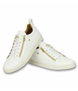 Cash Money Men Shoes Low Sneaker - Bee White Gold - CMS97 - White