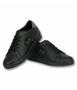 Cash Money Men Shoes Low Sneaker - Bee Black - CMS16 - Black