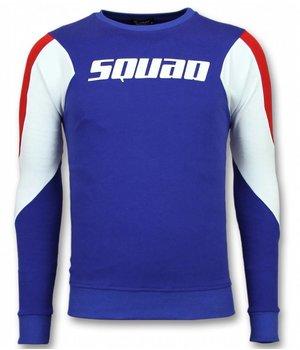 UNIMAN Men Squad Print Sweater - Blue