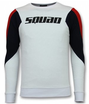 UNIMAN Men Squad Print Sweater - White