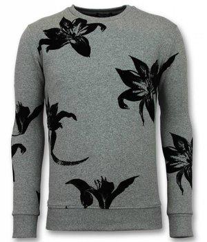 UNIMAN Lilium Candidum  Printed Sweatshirt - Grey
