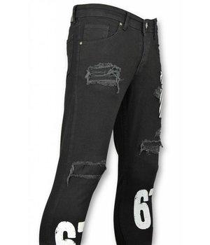 Mario Morato Paint Stroke Ripped Jeans - 1474 - Black