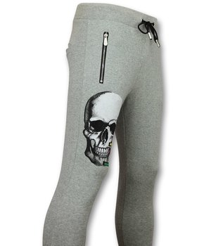 Golden Gate Glitter Skull Men Sweatpants - Grey