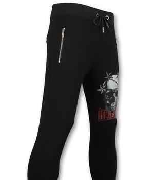 Golden Gate Stars Skull Printed Sweatpants - Black