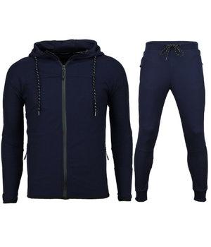 Enos Men Exclusive Slim Fit Jogging Suit  - Tracksuits Men Basic - Navy