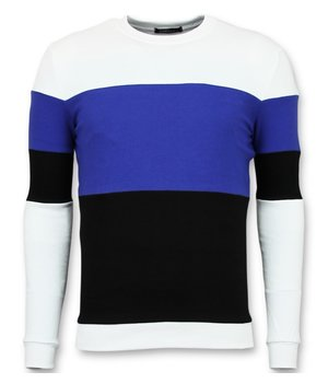 Enos Striped Sweatshirt For Men - Blue