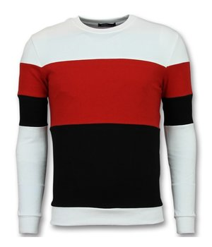 Enos Men Sweater - Buy Online Stripe Sweaters - Red