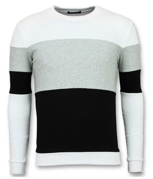 Enos Striped Sweatshirt For Men - Grey