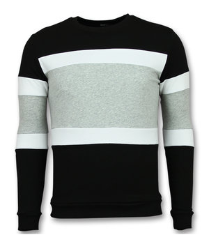 Enos Striped Sweater For Men - Black\Grey