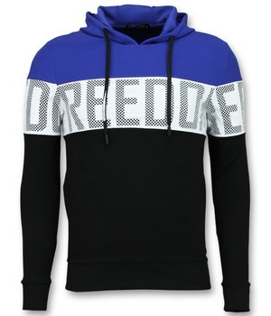 Enos Wesh Fabric Men Hoodies - Black\Blue