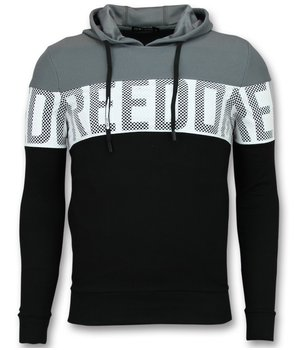 Enos Wesh Fabric Men Hoodies - Black\Grey