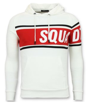Enos Cool Men Sweater - Crewneck-Striped Hoodie - White