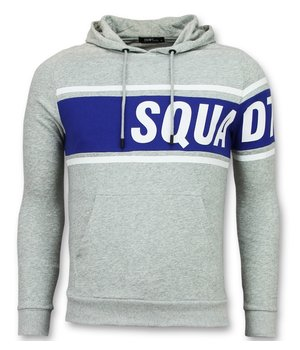 Enos Men Sweater Cool - Crewneck Striped Hoodie - Grey / Blue
