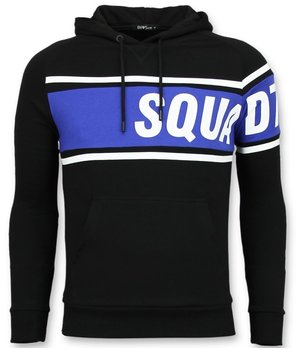 Enos Squad Printed hoodies For Men - Black