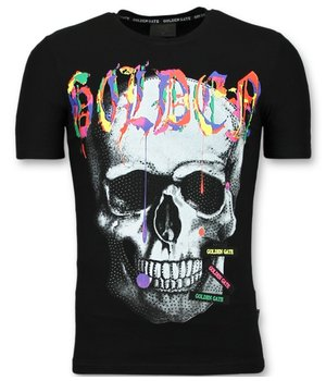 Golden Gate Skull Colors Shirt Men - Men  T shirts Buy New - Black