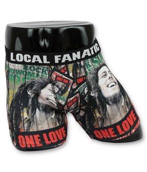 Local Fanatic Men's Boxer Shorts Buy - Men's Bob Marley Underwear - Black