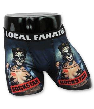 Local Fanatic Men's Boxers Buy - Men's Underwear Rockstar - Black