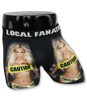 Local Fanatic Men's Boxers Sale - Men's Underpants Caution Chick