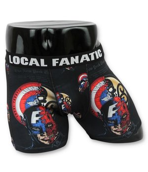 Local Fanatic Printed Men Underwear Captain America