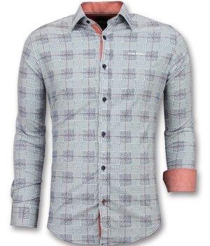 Gentile Bellini Men's Shirts Long Sleeve - Italian Blouse Men - Blue