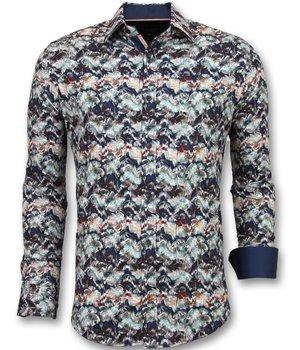 Gentile Bellini Special Men's Shirts - Luxury Italian Blouse - Blue