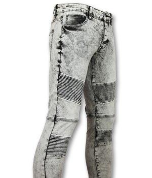 New Stone Cool Biker Skinny Jeans Men - Gray Jeans Men - Grey