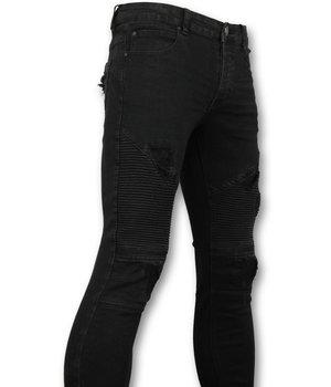 New Stone Cool Black Biker Jeans - Skinny Jeans For Men - Black