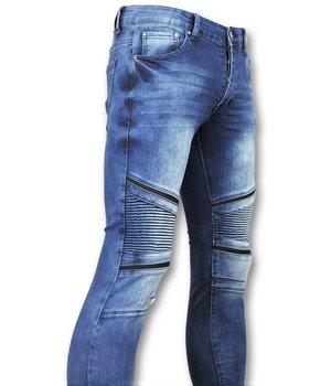 New Stone Exclusive Men's Jeans - Slim Fit Biker Denim - 3009 - Blue