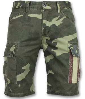 Enos Camouflage Shorts Pants Men - Green