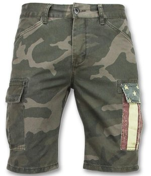 Enos Camouflage Shorts Men - Cheap Bermuda Pants - Grey