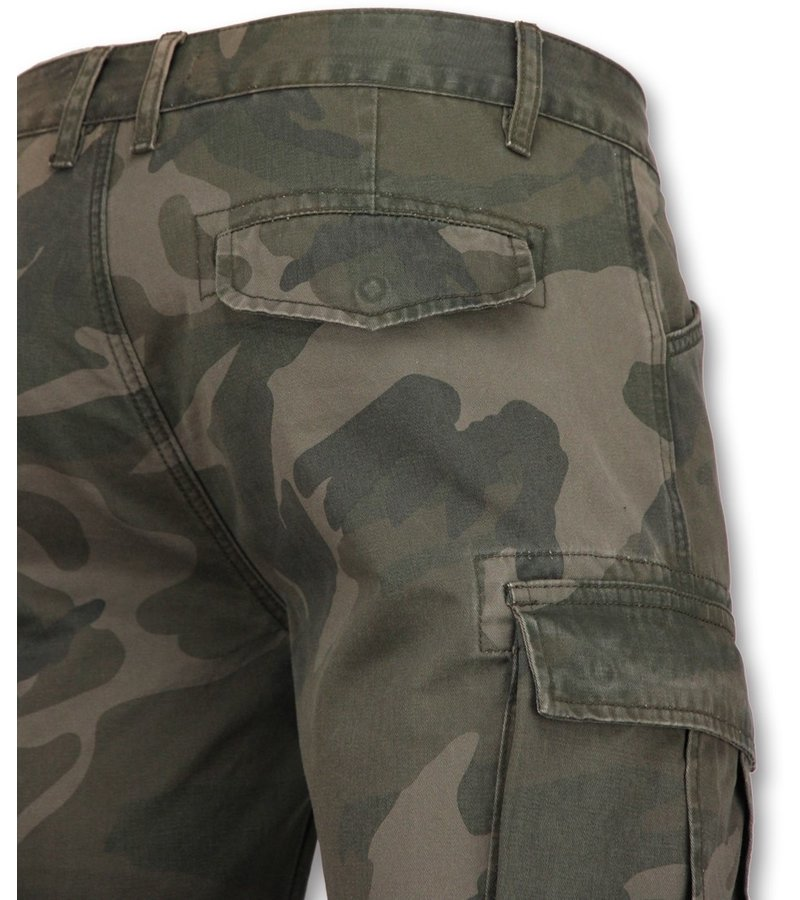 Enos Camouflage Shorts Men - Cheap Bermuda Pants - Grey