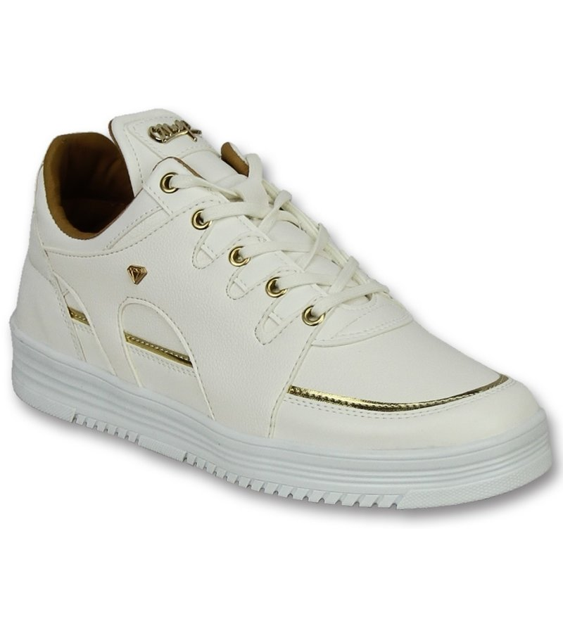 Cash Money Men Shoes Low Sneaker - Luxury White - CMS71 - White