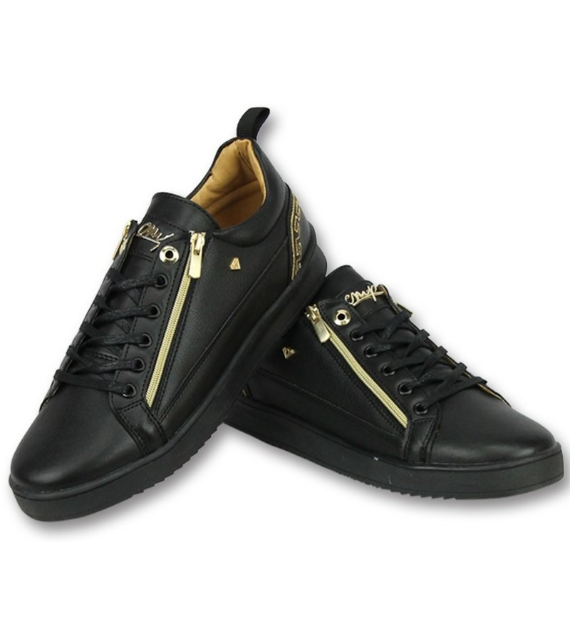 Cash Money Men Shoes Low Sneaker - Cesar Full Black - CMP97 - Black