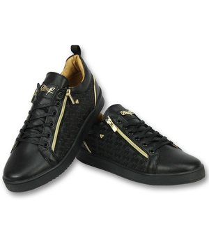 Cash Money Men Shoes Low Sneaker - Maya Full Black - CMS97 - Black