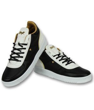 Cash Money Men Shoes Low Sneaker - Luxury Black White - CMS72 - Black