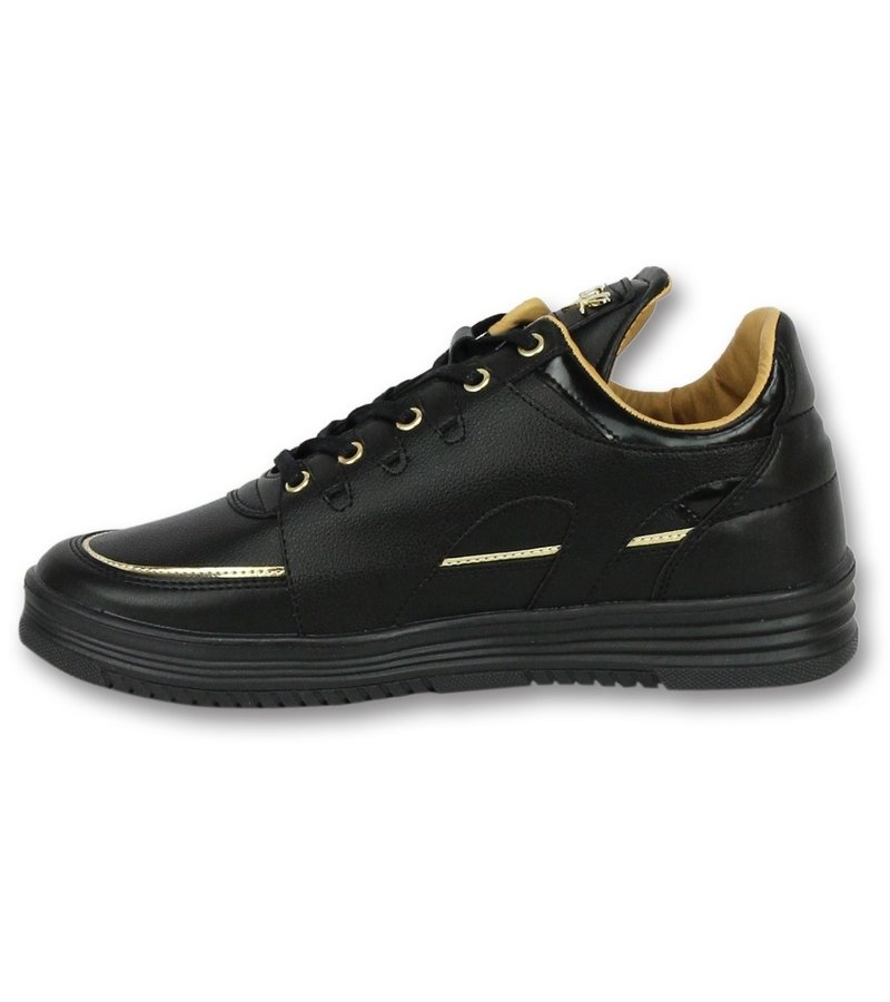 Cash Money Men Shoes Low Sneaker - Luxury Black - CMS71 - Black