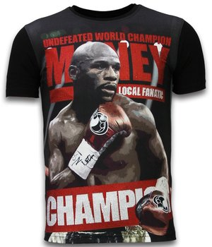 Local Fanatic Money Champion - Digital Rhinestone T-shirt - Black