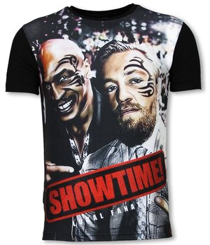 Local Fanatic Showtime - Digital Rhinestone T-shirt - Black